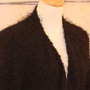 Fuzzy XL Open Front Cardigan Sweater